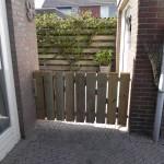 Een veilig hekje zodat ze kindje goed in het zicht en veilig kunnen spelen in de kindertuin.